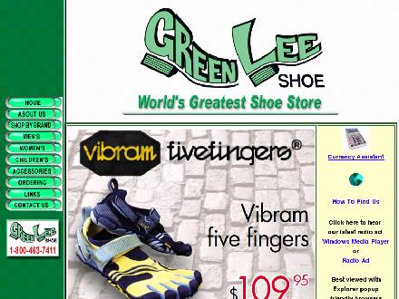 Green-Lee Shoe Ltd (506-693-1455) - Onglet de site Web - http://www.greenleeshoe.com