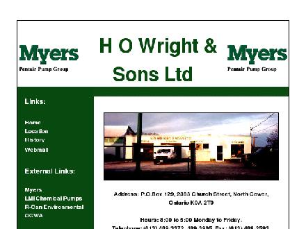 Wright H O & Sons Ltd (613-489-3372) - Website thumbnail - http://www.howright.ca