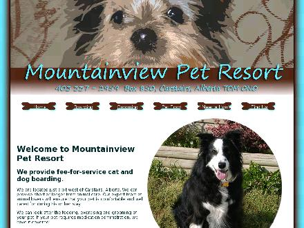 Mountain View Pet Resort (403-337-2959) - Website thumbnail - http://www.mountainviewpetresort.ca