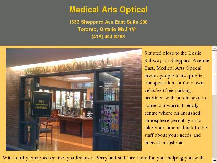 Medical Arts Optical (416-494-8283) - Website thumbnail - http://www.medicalartsoptical.ca