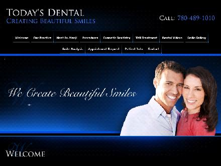 Today's Dental (780-970-6774) - Onglet de site Web - http://www.todaysdental.ab.ca