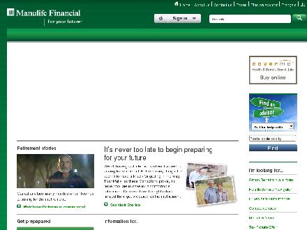 Manulife Financial (1-888-626-8543) - Onglet de site Web - http://www.manulife.ca