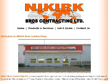 Nikirk Bros Contracting Ltd (403-843-2664) - Website thumbnail - http://www.nikirkbros.com