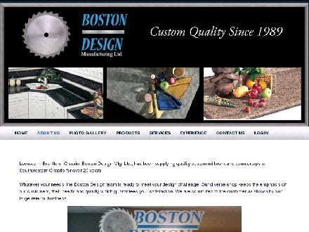 Boston Design Manufacturing Ltd (905-521-5556) - Onglet de site Web - http://www.bostondesignmfg.com
