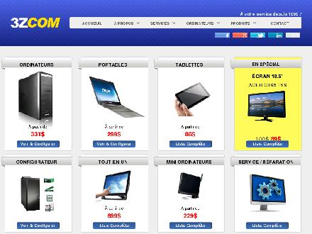 3zcom (450-640-0081) - Onglet de site Web - http://www.3zcom.com