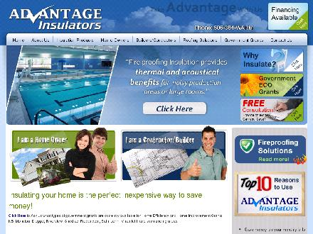 Advantage Insulators (506-802-7304) - Website thumbnail - http://www.takeadvantage.ca