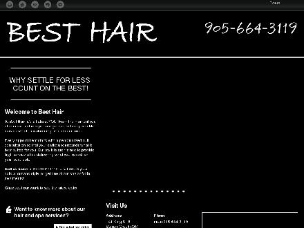 Best Hair Inc (905-664-3119) - Onglet de site Web - http://besthair.ca/