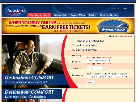Express Courier (506-458-6007) - Website thumbnail - http://www.acadianbus.com