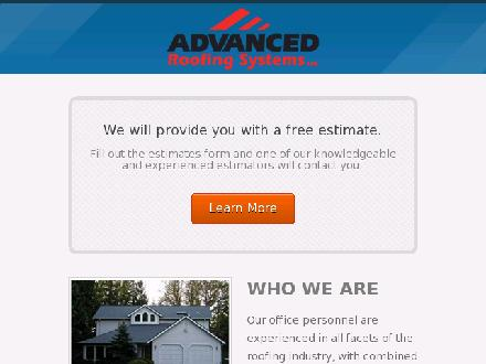 Advanced Roofing Systems Ltd (780-392-9820) - Onglet de site Web - http://www.advancedroofsystems.com