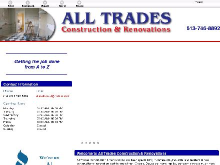 All Trades Construction & Renovations (613-909-2232) - Website thumbnail - http://alltradesottawa.ca/