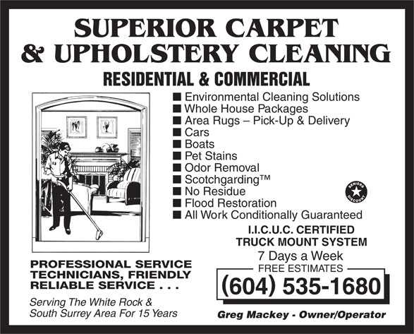 Superior Carpet Amp Upholstery Cleaning 16446 10a Ave