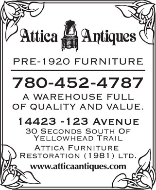 Attica Furniture Restoration  Ltd - Opening Hours -
