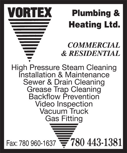 ad Vortex Plumbing & Heating Ltd