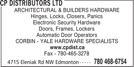 Cp Distributors Ltd Edmonton Ab 4715 Eleniak Rd Nw