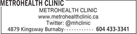MetroHealth Clinic (6044333341) - Display Ad -