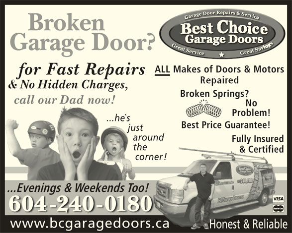 Best Choice Garage Door Services Opening Hours 20690