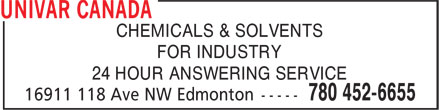 Univar Canada (780-452-6655) - Display Ad -