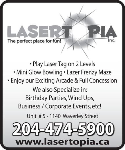 Lasertopia - Winnipeg, MB - 1140 Waverley St