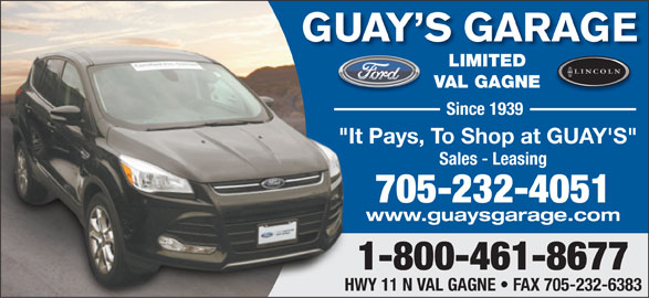 Guay 39 s garage ltd opening hours 4212 hwy 11 n val gagn on - Esso garage opening times ...