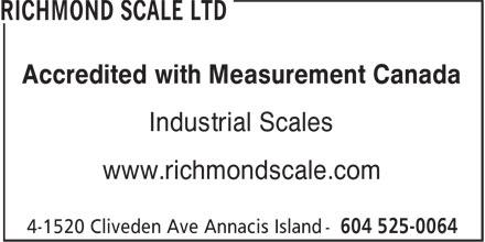 Richmond Scale Ltd Delta Bc 4 1520 Cliveden Ave