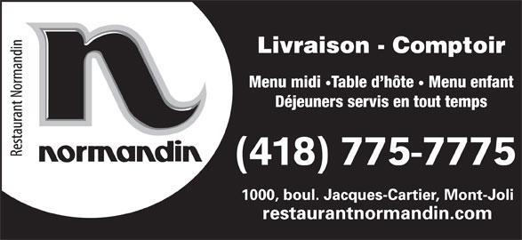 restaurant normandin horaire d 39 ouverture 1000 boul. Black Bedroom Furniture Sets. Home Design Ideas