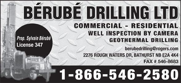 B Rub Drilling Ltd Bathurst NB 2276 Rough Waters Dr Canpages
