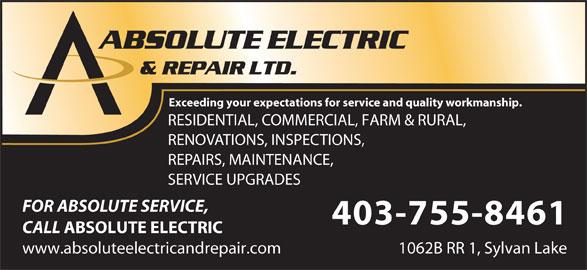 Absolute Electric Amp Repair Ltd Red Deer County Ab