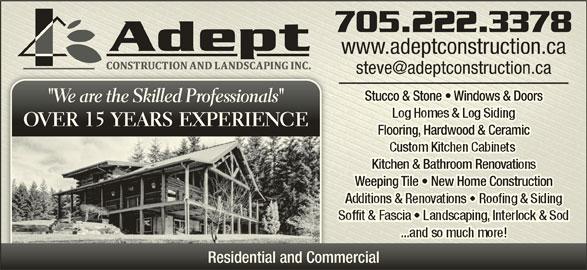 Adept Construction Amp Landscaping Inc Garson On 1990