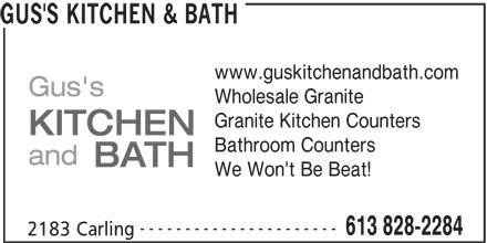 Ads Gus's Kitchen & Bath