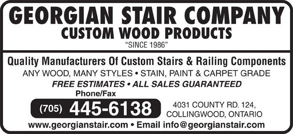 Georgian Stair Company Inc - Collingwood, ON - 4031 County Rd 124 ...