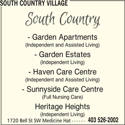 South Country Village 1720 Bell St Sw Medicine Hat Ab
