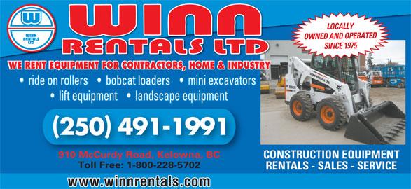 Winn Rentals Ltd - Kelowna, BC - 910 McCurdy Rd | Canpages