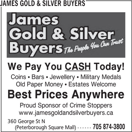 Ads James Gold & Silver Buyers