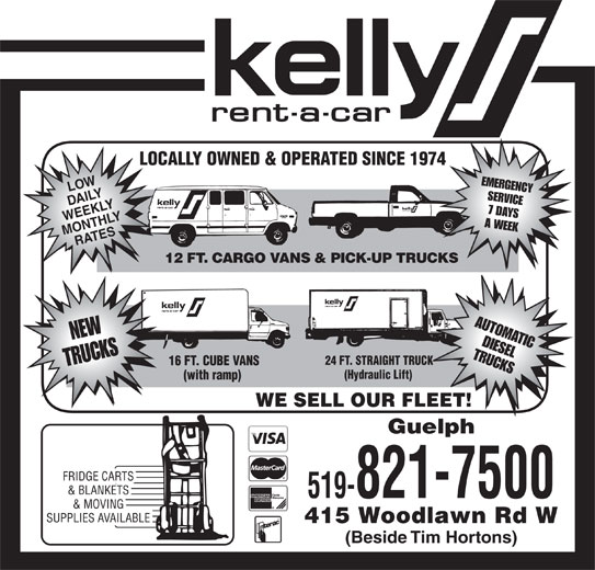 Kelly Rent A Car Guelph Ontario