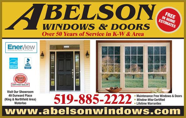 Abelson Windows Amp Doors Waterloo On 49 Durward Pl