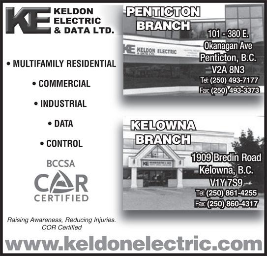 Keldon Electric Amp Data Ltd Penticton Bc 101 380