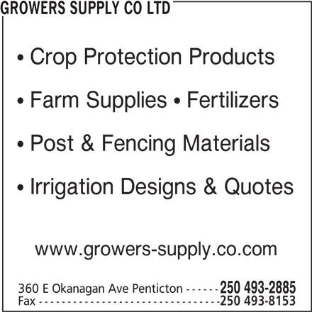 Growers Supply Co Ltd Penticton Bc 288 Dawson Ave