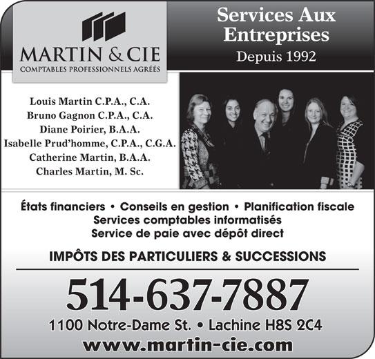 Martin & Cie (514-637-7887) - Annonce illustrée======= -