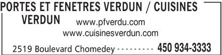 Portes et fen tres verdun 2519 boul chomedey laval qc for Porte et fenetre verdun laval