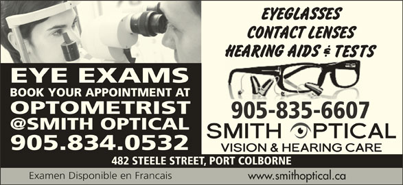 Smith Optical Vision & Hearing Care - Port Colborne, ON ...