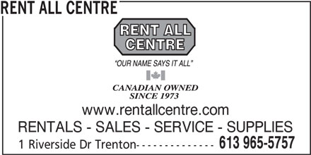 Rent All Centre Trenton On 1 Rivers Dr Canpages
