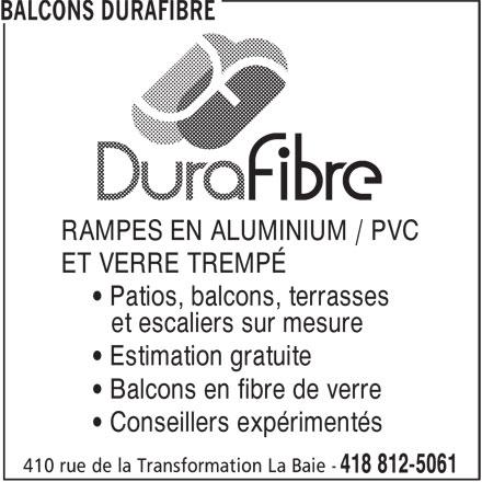 Balcons Durafibre Horaire D 39 Ouverture 410 Rue De La