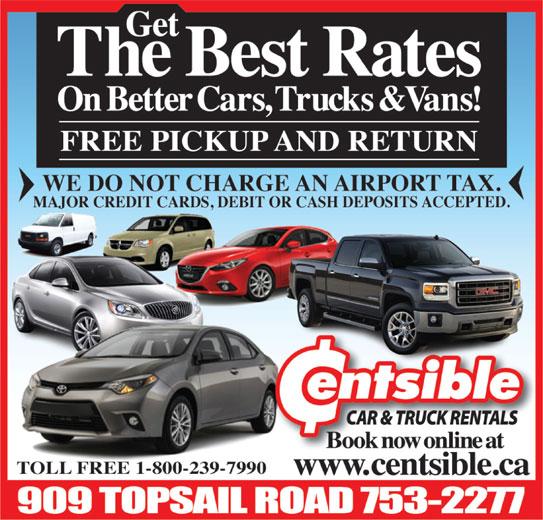 Centsible Car & Truck Rentals (709-753-2277) - Display Ad -