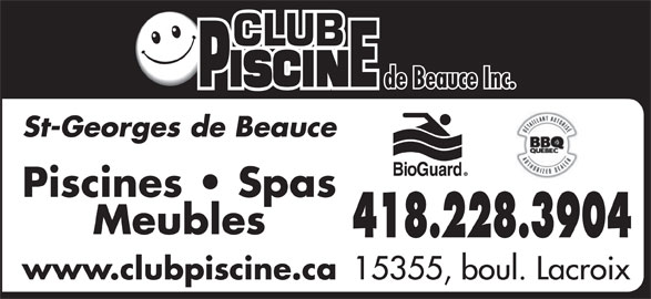 Club piscine de beauce inc st georges qc 15355 boul for Club piscine beloeil