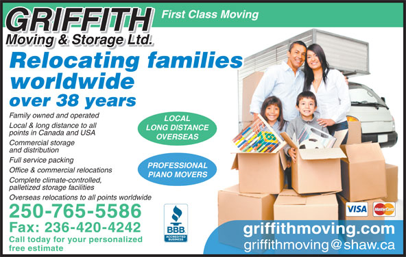 Griffith Moving Amp Storage Ltd