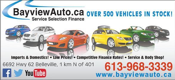 bayview auto sales 6692 hwy 62 belleville on. Black Bedroom Furniture Sets. Home Design Ideas