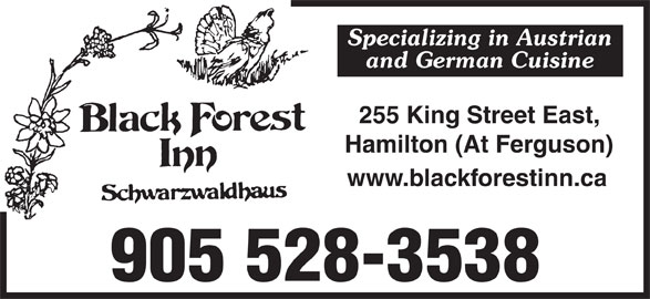 Black Forest Inn (905-528-3538) - Display Ad -
