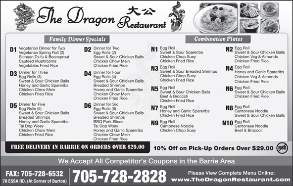 Dragon Chinese Food Barrie