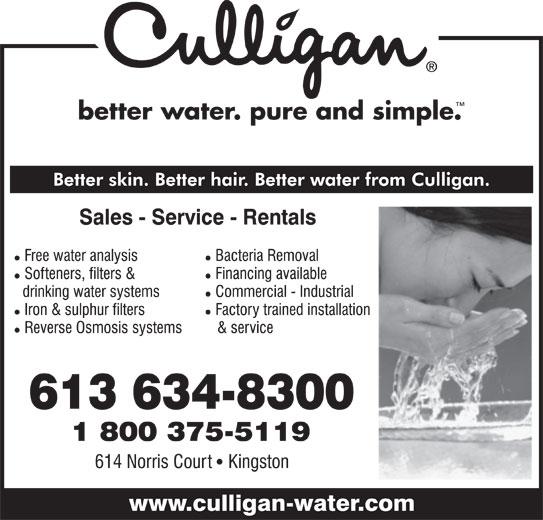 Culligan Of Kingston (613-634-8300) - Display Ad -