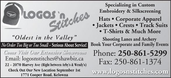 Logos n stitches  cooper rd kelowna bc